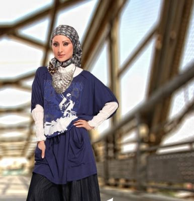 صورة اجمل ملابس المحجبات شيك , ازياء للبنات المحجبات , ازياء خروج كاجول للمحجبات 2020