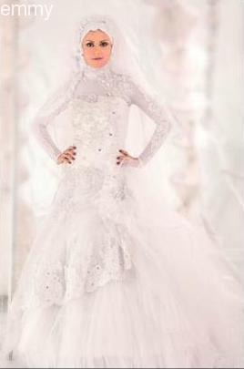 صوره اجمل فساتين الزفاف للمحجبات