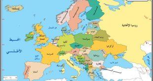 صوره خريطة اوروبا كاملة , دول و محافظات اوروبا