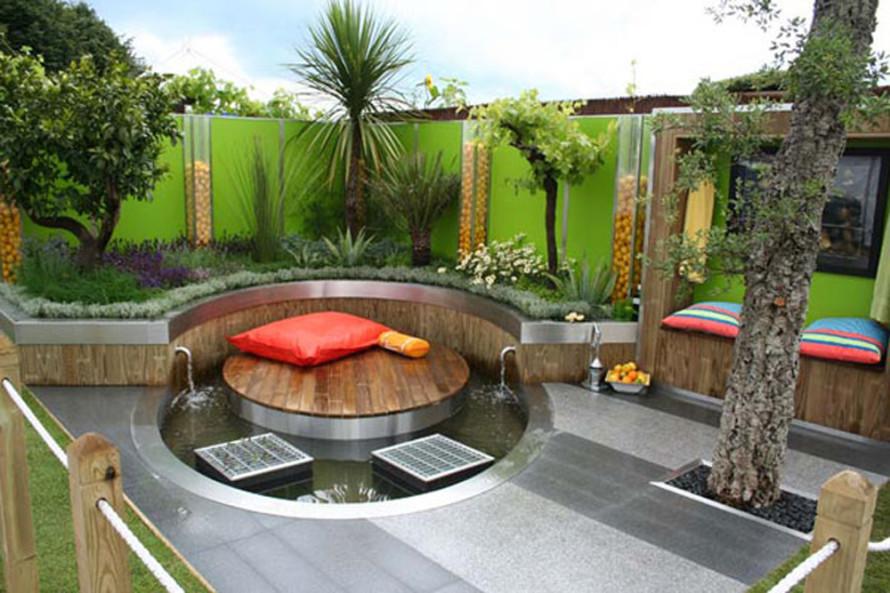 صور تصميم حدائق منزلية بالرياض , حدائق للفلل شيك