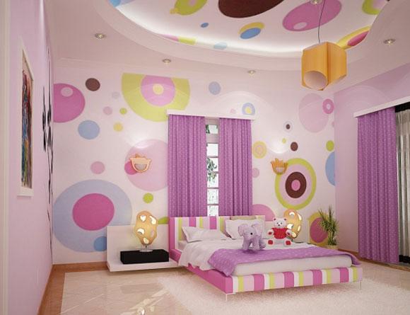 صوره صور دهانات غرف بناتي , اجمل ديكورات غرف البنات