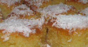 كيكة البسبوسة سهلة , طريقة تحضير الكيكة بالبسبوسة