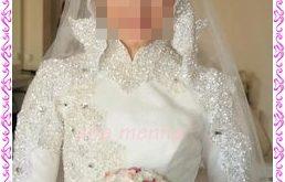 صوره فساتين زفاف للمحجبات مودرن 2018 , فستان العروس المحجبه , ارقى موديلات العرائس للمحجبات