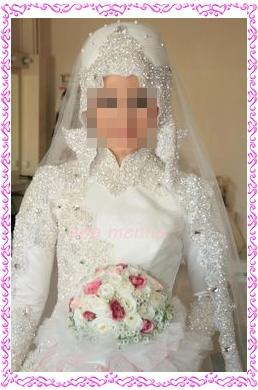 فساتين زفاف للمحجبات مودرن 2020 , فستان العروس المحجبه , ارقى موديلات العرائس للمحجبات