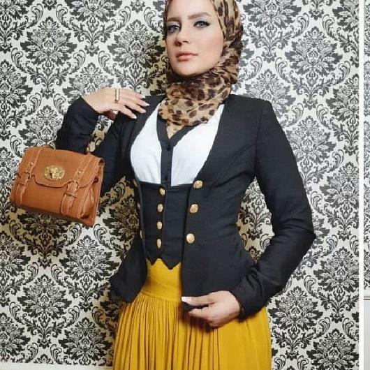 صوره ازياء محجبات للعيد 2019 , ملابس تحفة للعيد للمحجبات 2019