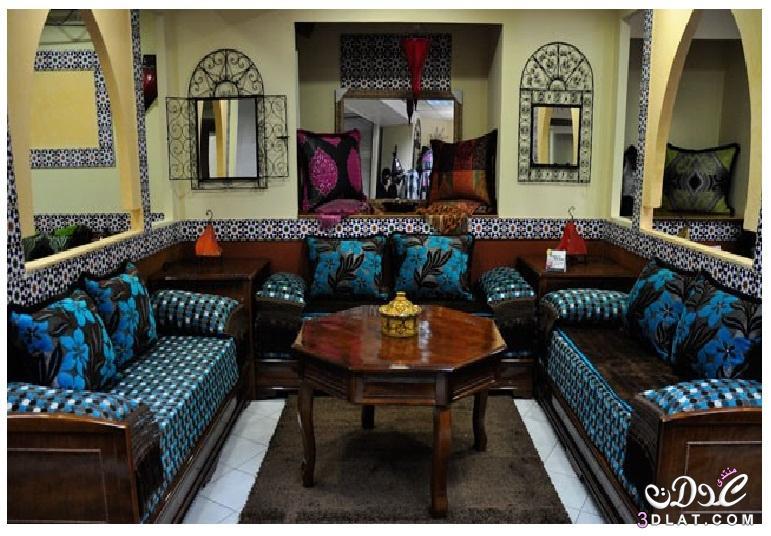 صوره اجمل صالونات مغربية , ديكورات غرف جلوس