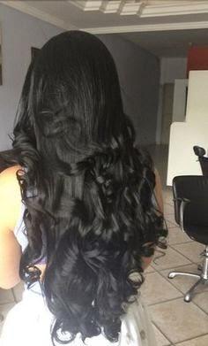 صورة بنات شعر اسود طويل , صبغة الشعر الاسود