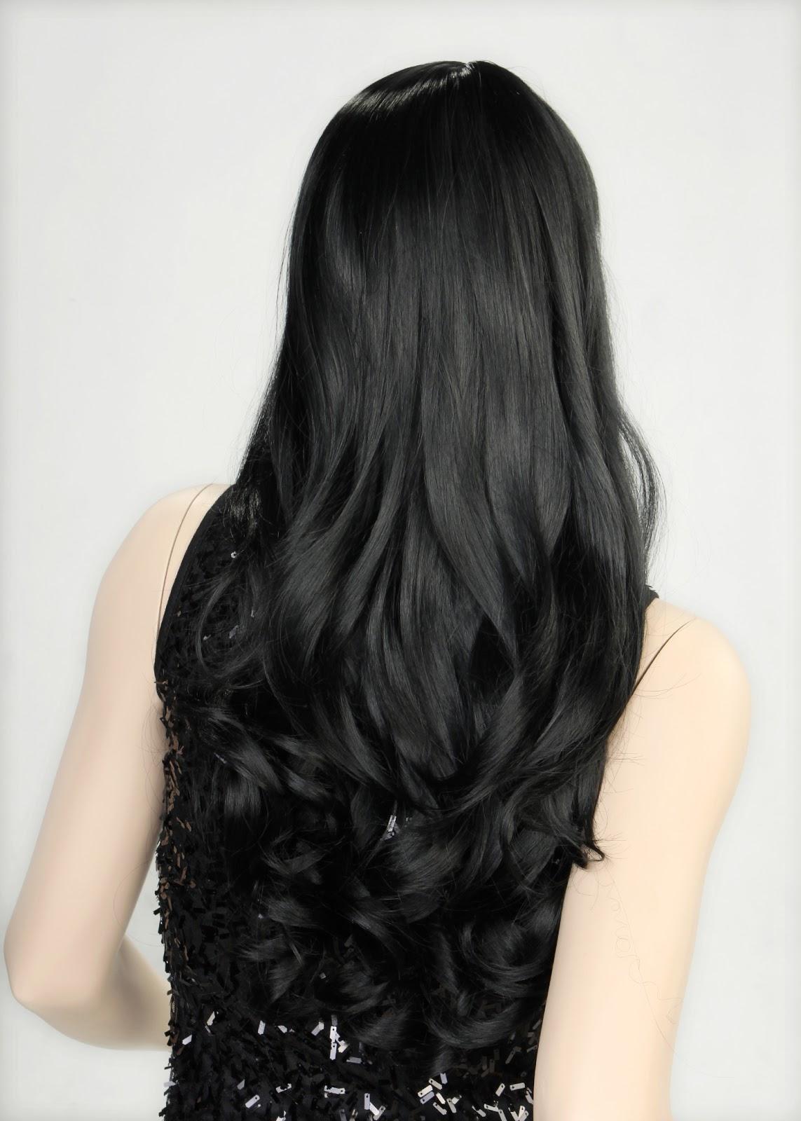 بنات شعر اسود طويل , صبغة الشعر الاسود - بالصور