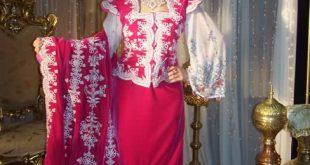 صورة فساتين اعراس تقليدية جزائرية , موديلات فساتين زفاف جزائرية روعة 2019