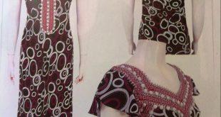 صورة فساتين جزائرية صيفية , ملابس مطرزة بشكل احترافي لبنات الجزائر