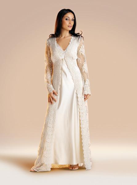 صوره ملابس نوم للعرايس , ارواب شيك للعرائس , ملابس للعروسة لشهر العسل 2018