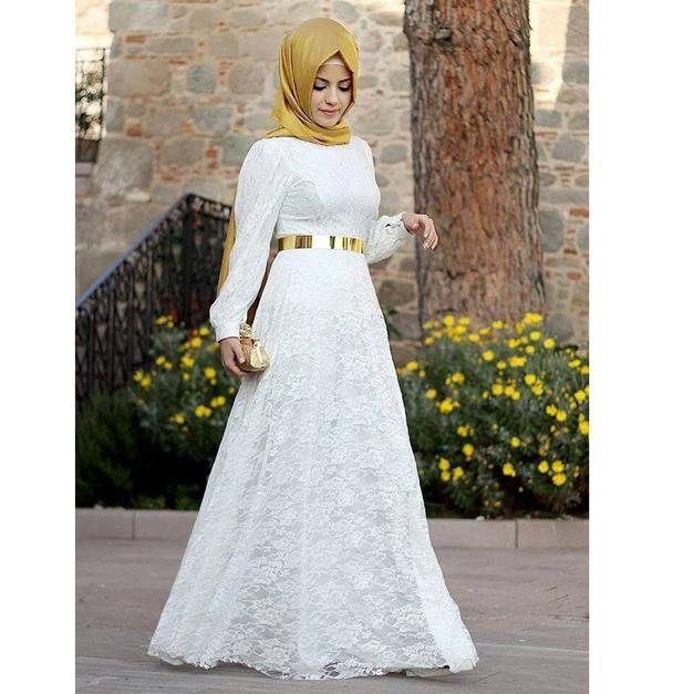 صورة ملابس محجبات للسهرة جونان ازياء محجبات شيك للسهرات 2019
