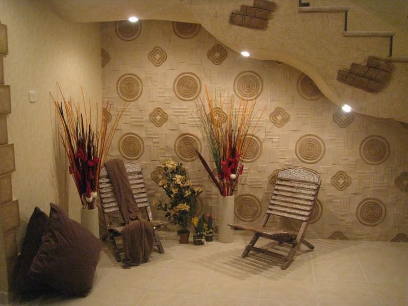 صورة اجمل ورق حائط بلون احمر وذهبي جميل جدا وخلاب للجدران 51757 10
