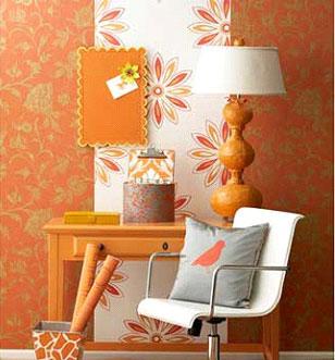 صورة اجمل ورق حائط بلون احمر وذهبي جميل جدا وخلاب للجدران 51757 7