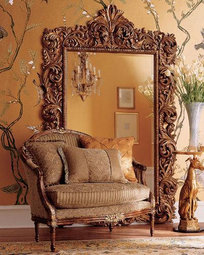 صورة اجمل ورق حائط بلون احمر وذهبي جميل جدا وخلاب للجدران 51757 8