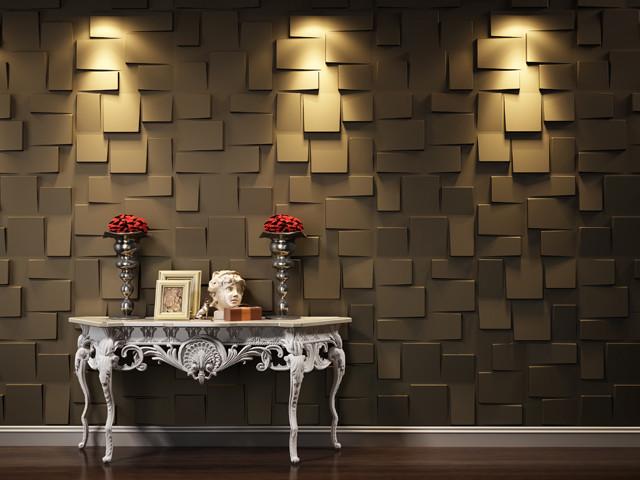 صورة اجمل ورق حائط بلون احمر وذهبي جميل جدا وخلاب للجدران 51757 9