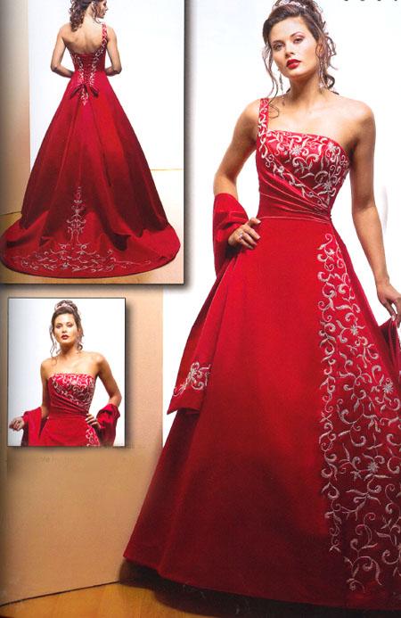 صورة اجمل فساتين حمراء , صور فساتين اعراس , صورة فستان احمر 2019