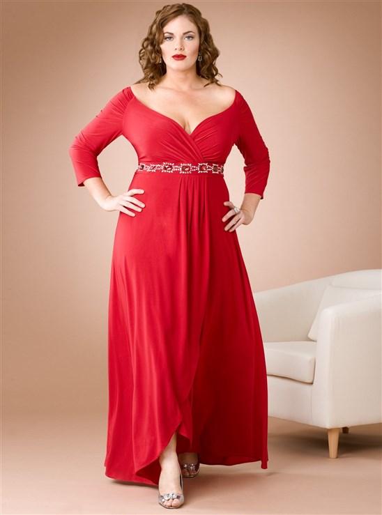 صوره صور ازياء فساتين للسمينات اجمل اروع لباس للممتلئات و للدبدوبات , حتبينك ارفع و اطول