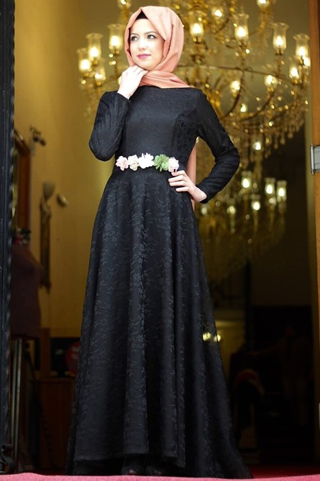 صورة اجمل اروع الازياء الشتوية للمحجبات للسهرات 2020 للمناسبات , حجابك حيزود جمالك فى الحفلة