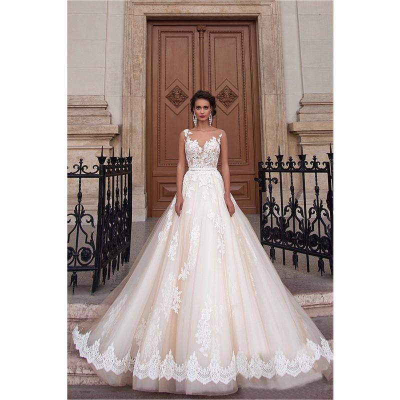 صوره جديد فساتين عرايس 2019 , فستان لعروس فاتنه , احدث موضة فى فساتين الزفاف