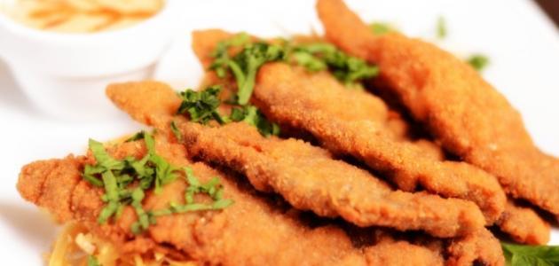 صورة اسكالوب بانيه دجاج, طريقة عمل اسكالوب الدجاج