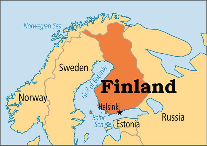 أين تقع فنلندا علي الخريطة أين توجد فنلندا حبوب
