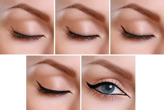 صورة بالصور رسم العين بالكحل , طريقة رسم العين بالكحل القلم